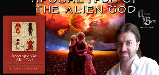 Picture of scholar Dylan Burns and his book Apocalypse of the Alien God