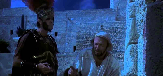 Roman centurion bullying Brian in the movie Life of Brian