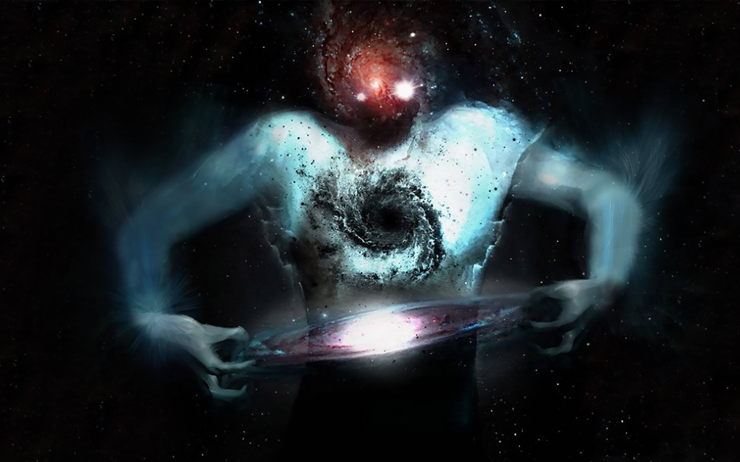Demiurge creating the universe